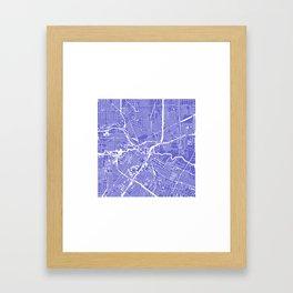 Houston City Map Art Framed Art Print