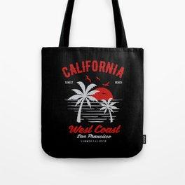 california sunset beach Tote Bag