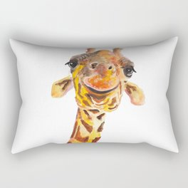 Nosey Giraffe ' Jo ' by Shirley MacArthur Rectangular Pillow