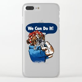 We Can Do It English Bulldog Clear iPhone Case