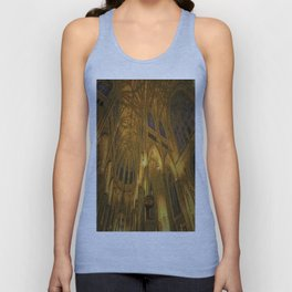Golden Light Cathedral Unisex Tank Top