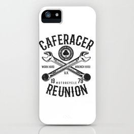Cafe Racer Reunion Vintage Tools Poster iPhone Case