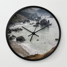 Rock Formations Around Sisters Rock State Park Wall Clock