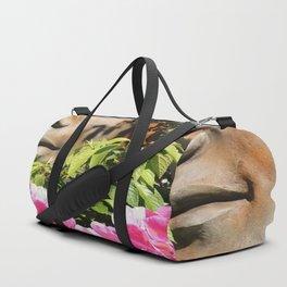 Faces in the Garden Duffle Bag