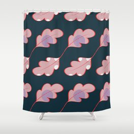 Dotted leaves Shower Curtain