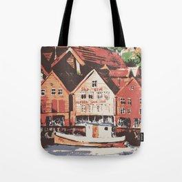 Old warf of Bergen Norway Tote Bag