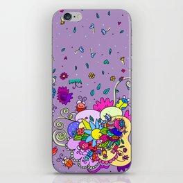 bugging flowers! iPhone Skin