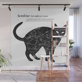 A Familiar Black Cat Wall Mural