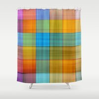 fabric Shower Curtains featuring Fabric by RingWaveArt