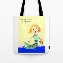 Sea Glass Mermaid Tote Bag