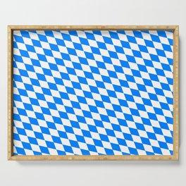 Bavarian Blue and White Diamond Flag Pattern Serving Tray