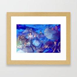 Ghibli sky Framed Art Print