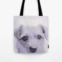 Curious little dog waiting for you - funny dog portrait Tote Bag