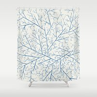 feet Shower Curtains featuring Cold Feet by rskinner1122