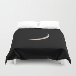 Waxing Crescent Moon Duvet Cover