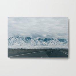 Road To The Mountains Metal Print