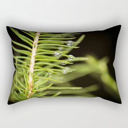 Spruce branch with drops Rectangular Pillow