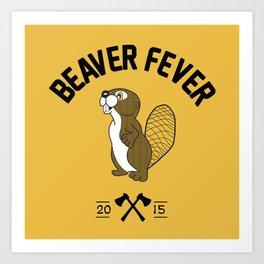 Beaver Fever - Black and White Art Print