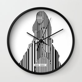 Whistler in Barcode, Harmony in Grey and Green Wall Clock