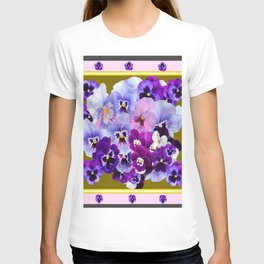 COLORFUL SPRING  PANSIES GARDEN COLLECTION T-shirt