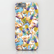 Tropical pattern of flamingos and pineapple Slim Case iPhone 6s
