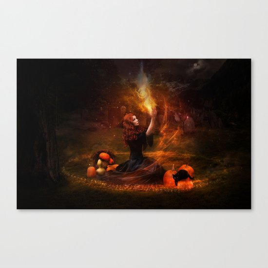 The Witch Fantasy Mystic Scene  Canvas Print