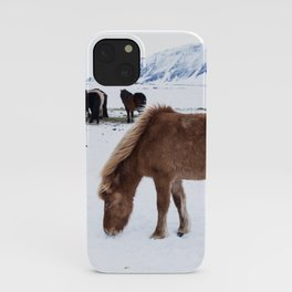 Horses in Iceland - Travel photography- Nature iPhone Case