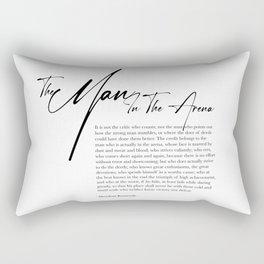 The Man In The Arena Rectangular Pillow