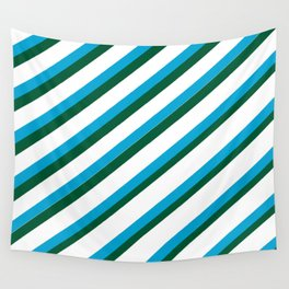 TEAM COLORS 1...LIGHT BLUE,GREEN Wall Tapestry