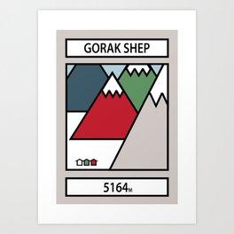 Gorak Shep Art Print