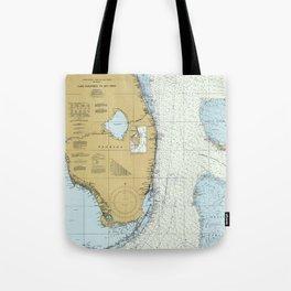 Florida Atlantic Coast Map (1982) Tote Bag