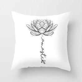 Namaste Lotus Flower Throw Pillow