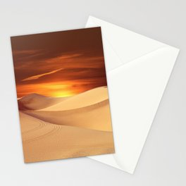 The Sunset On Desert Stationery Cards