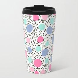 Minimal dots dotted pattern painted pastel polka dots minimalist art and decor Travel Mug