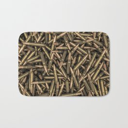 Rifle bullets Bath Mat