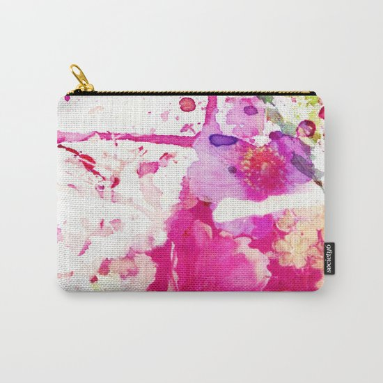 flower and splash in pink Carry-All Pouch