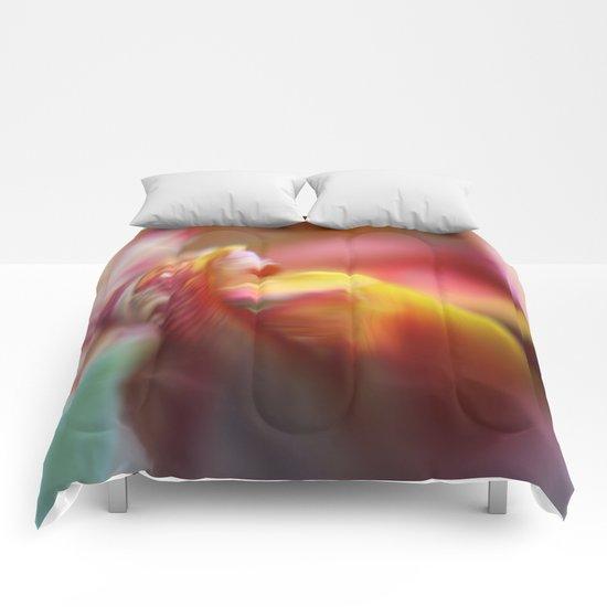 Tulip Bokeh Comforters