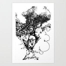 two leaves too many Art Print