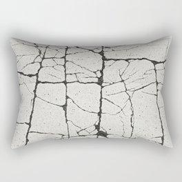 Cracked Crossing Rectangular Pillow