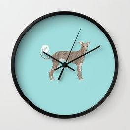 italian greyhound farting dog cute funny dog gifts pure breed dogs Wall Clock