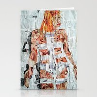 fifth element Stationery Cards featuring LEELOO THE FIFTH ELEMENT by JANUARY FROST