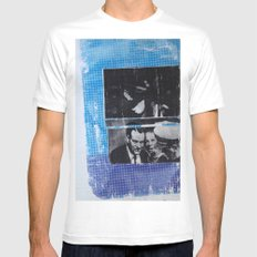 OSWALD/HALF TONE White Mens Fitted Tee MEDIUM