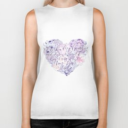 flower heart . sylvia plath quote . the bell jar Biker Tank