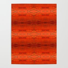 Rustic Orange Geometric Southwestern Pattern - Luxury - Comforter - Bedding - Throw Pillows - Rugs Poster