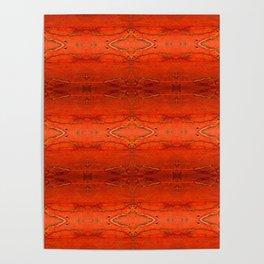 Rustic Furniture Orange Southwestern Geometric Barstool Counter Stool Corbin Poster