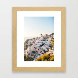 Santorini Sunset Framed Art Print