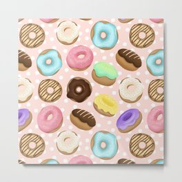 Crazy for Donuts Pattern Metal Print