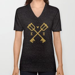 Crossed Keys Unisex V-Neck
