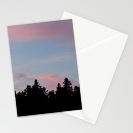 SIlhouette of the Northern Nature Stationery Cards