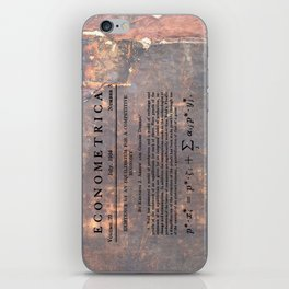 Economics iPhone Skin
